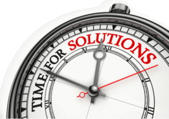 Infographic: time for solutions logo